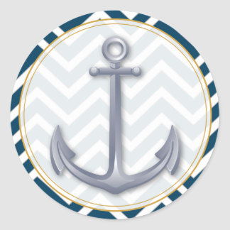 Anchor Anniversary Classic Round Sticker