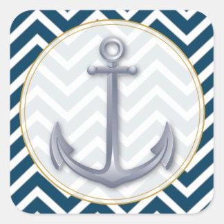 Anchor Anniversary Square Sticker
