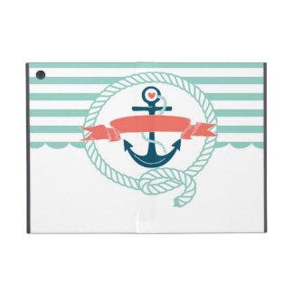 Anchor, blue,red, Nautical retro sailor girly iPad Mini Case