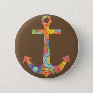 Anchor Brown Standard, 2¼ Inch Round Button
