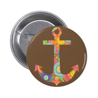 Anchor Brown Standard, 2¼ Inch Round Button