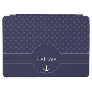anchor captain sailor nautical pattern and names iPad air cover