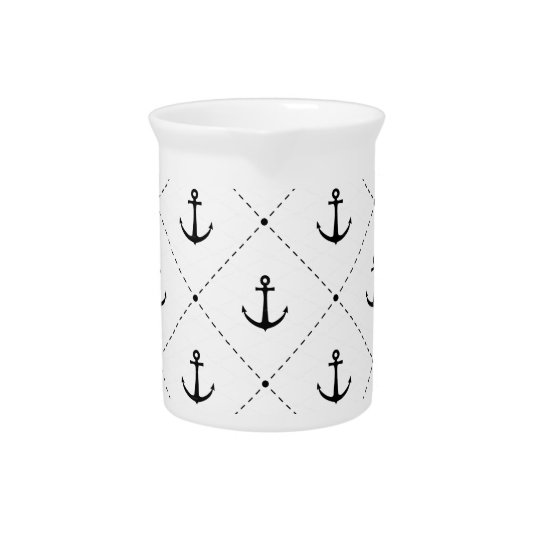Anchor Design Drink Pitcher