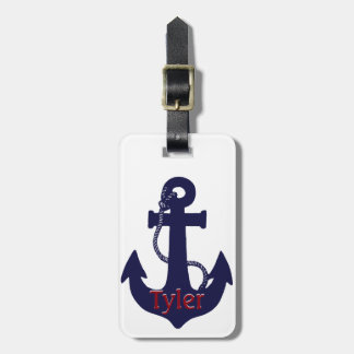 Anchor design luggage tag