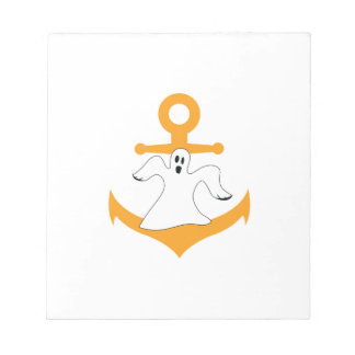 Anchor ghost Halloween Notepad