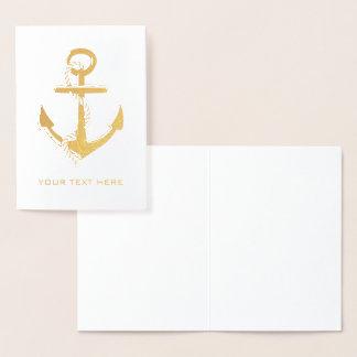 Anchor Gold Foil Card