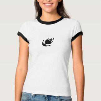 Anchor Heart Betty Ace Womens T-Shirt
