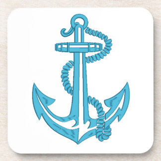 anchor - imitation of embroidery coaster
