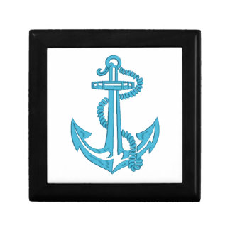 anchor - imitation of embroidery gift box