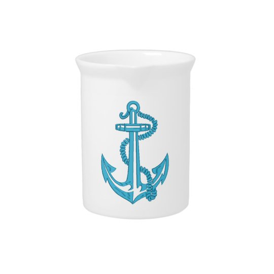 anchor - imitation of embroidery pitcher