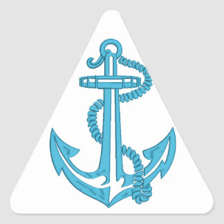 anchor - imitation of embroidery triangle sticker