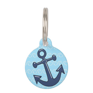 Anchor in the Waves Pet Name Tag