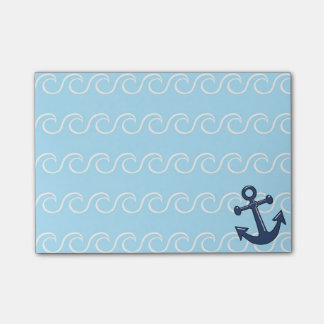Anchor in the Waves Post-it Notes