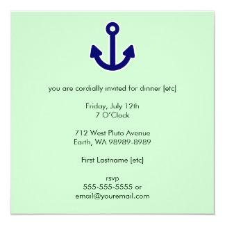 """Anchor 5.25"""" Square Invitation Card"""
