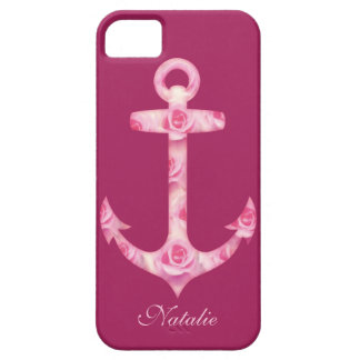 Anchor iPhone 5 case Floral pink rose flower