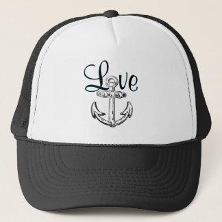 Anchor Love cute nautical  beach cottage  hat