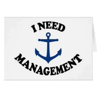 Anchor Management Greeting Card