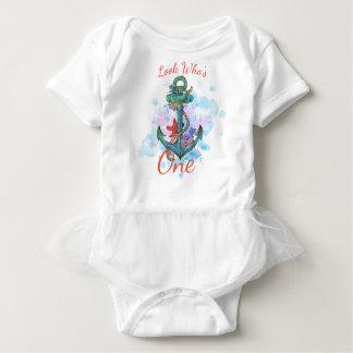 anchor mermaid nautical birthday bodysuit