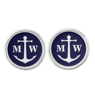 Anchor Monogram Cufflinks