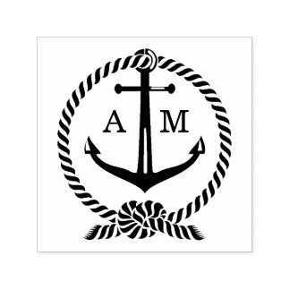 Anchor Monogram | Wedding Self-inking Stamp