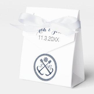 Anchor Monograms, Nautical wedding  favor box