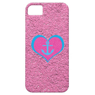 Anchor my Heart on Cotton Candy Pink iPhone 5 Case
