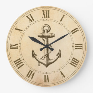 Anchor Nautical Large Clock