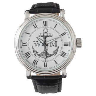 Anchor, Nautical Monogram Watch