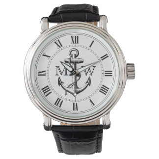 Anchor, Nautical Monogram Wristwatch