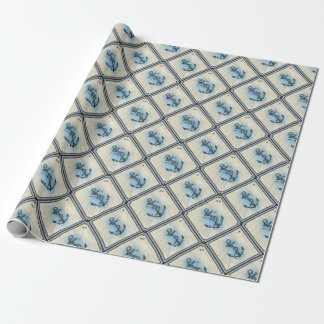 Anchor Nautical Sea Wrapping Paper