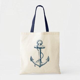 Anchor Nautical Tote Bag Gift Navy Blue White