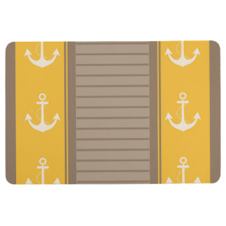 Anchor Nautical Trendy Pattern Floor Mat