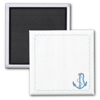 Anchor-Nautical Waves-Personalize It! Magnet