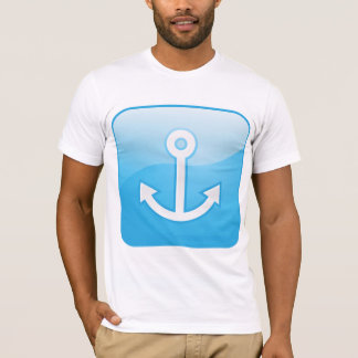 Anchor On Blue Background Mens T-Shirt