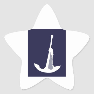 Anchor on navy blue background. star stickers