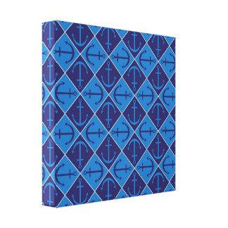 Anchor pattern canvas print