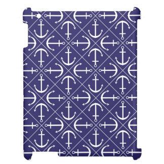 Anchor pattern iPad case