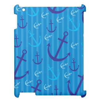 Anchor pattern iPad cases