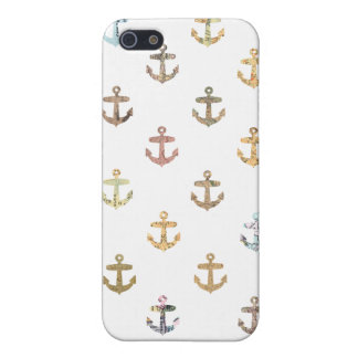 Anchor pattern made of vintage maps iPhone 5/5S cover