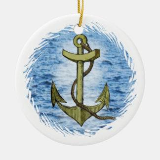 Anchor plain ceramic ornament