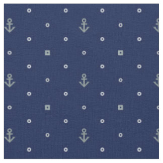 Anchor Polka Dots Pattern | Add Your Initial 2 Fabric