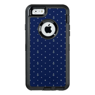 Anchor Polka Dots Pattern OtterBox Defender iPhone Case