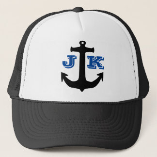 Anchor Print Logo Trucker Hat