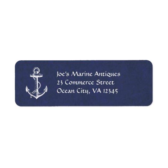 Anchor Return Address Label