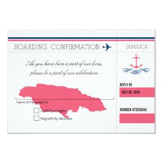 Anchor RSVP Jamaica Boarding Pass 9 Cm X 13 Cm Invitation Card
