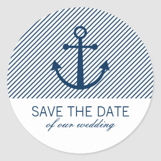 Anchor save the date stickers