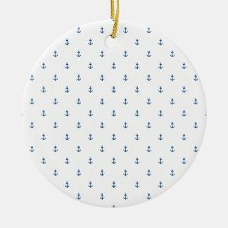 Anchor seamless texture ceramic ornament