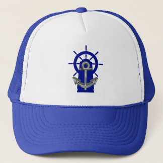 Anchor Ship Steering Wheel Nautical Sailing Hat