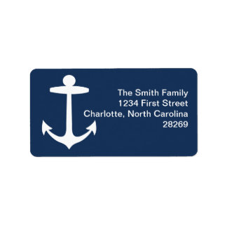 Anchor Silhouette Return Address Label