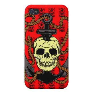 Anchor Skull Tattoo iPhone 4/4S Cover